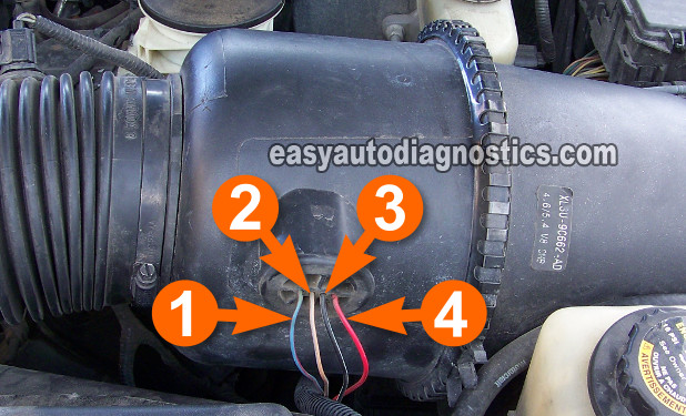 part 1 how to test the ford maf sensor 4 2l 4 6l 5 4l circuit descriptions of the ford maf sensor s connector