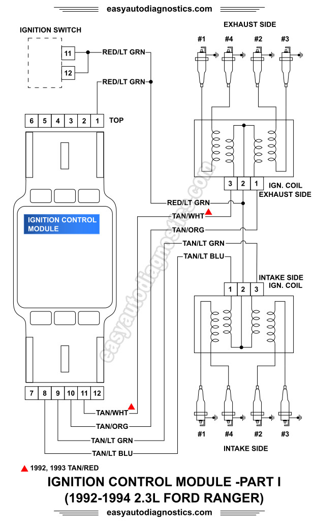 image_1 part 1 1992 1994 2 3l ford ranger ignition system wiring diagram 1993 ford ranger wiring diagram at edmiracle.co