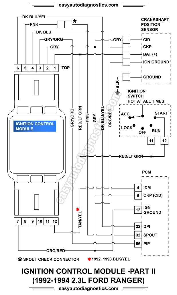 image_2 part 2 1992 1994 2 3l ford ranger ignition system wiring diagram 1993 ford ranger wiring diagram at edmiracle.co