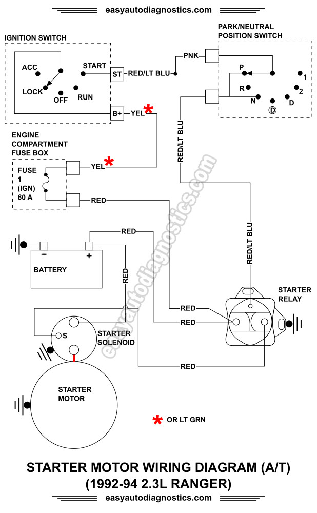 image_1 part 1 1992 1994 2 3l ford ranger starter motor circuit wiring 1994 ford ranger starter wiring diagram at crackthecode.co