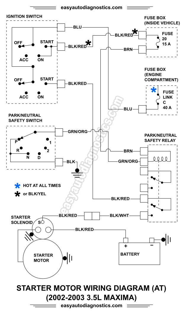 image_1 part 1 2002, 2003 3 5l nissan maxima starter motor circuit wiring nissan maxima wiring diagram at bayanpartner.co