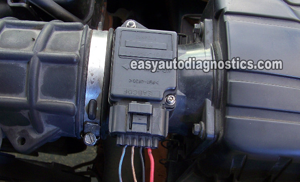 part 1 how to test the ford mass air flow maf sensor rh easyautodiagnostics com Ford MAF Sensor Testing Ford Coolant Temperature Sensor Location