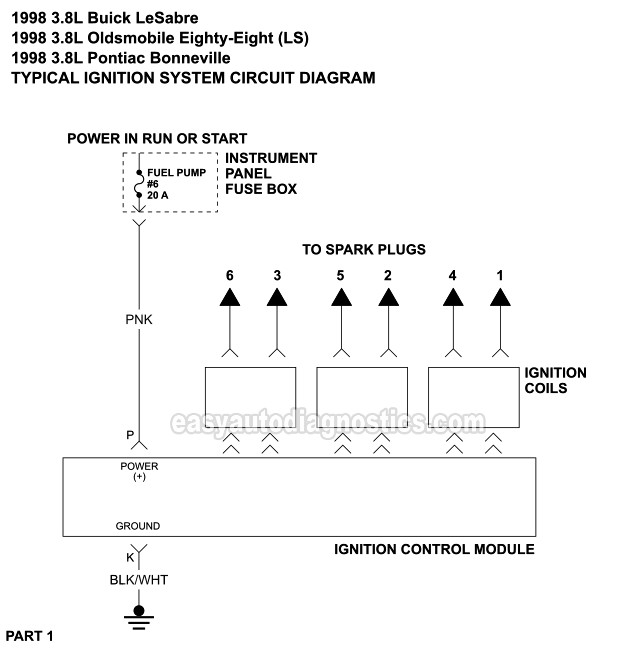 Ignition System Circuit Diagram (1998 3.8L Buick ...