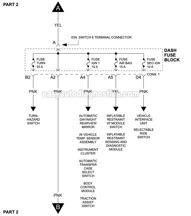 part 1 ignition switch circuit wiring diagram 2000 v8