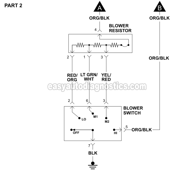 19921994    3      0L    Ranger Blower Motor Circuit    Diagram