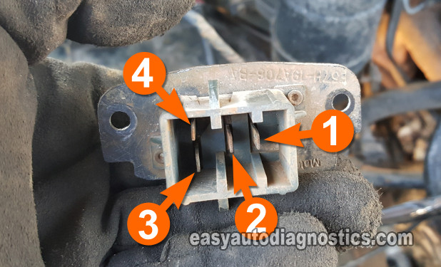 Resistance Testing The Blower Motor Resistor. How To Test The Blower Motor Resistor (1995, 1996, 1997 2.3L Ford Ranger And Mazda B2300)