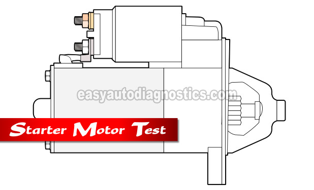 How To Test The Starter Motor (1995, 1996, 1997, 1998 3.8L V6 Ford Mustang)