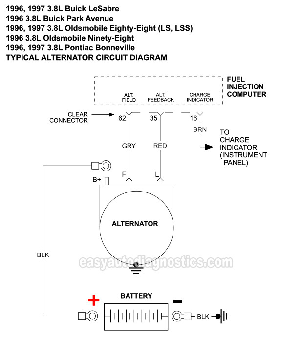 Alternator Circuit Diagram  1996