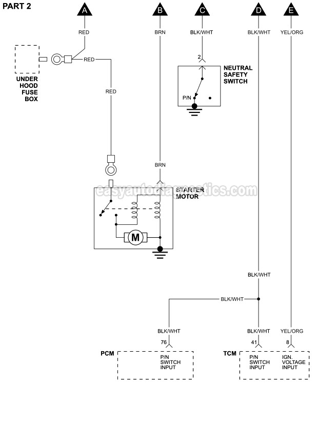 Part 1 Starter Motor Circuit Wiring Diagram 1995 2 4l Cirrus And Stratus