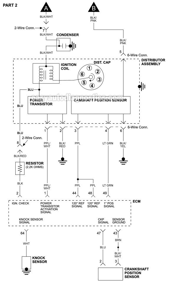 part 1 -ignition system wiring diagram (1999-2004 3.3l frontier and xterra)  easyautodiagnostics.com