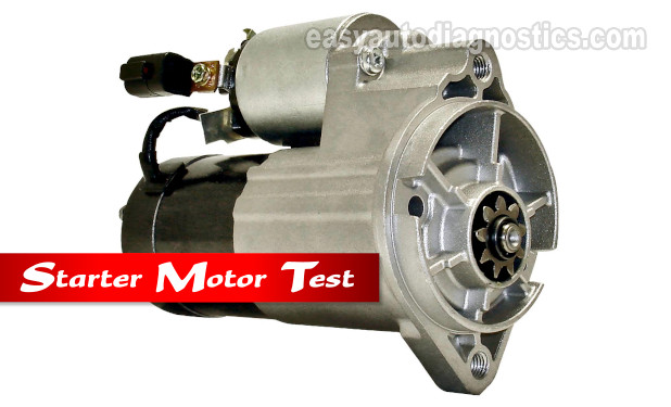 How To Test The Starter Motor (1996, 1997 3.3L Nissan Pathfinder)