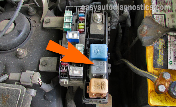 Inhibitor Relay Location In Relay Box #2. How To Test The Starter Motor (1996-1997 3.3L Pathfinder With Automatic Transmission).